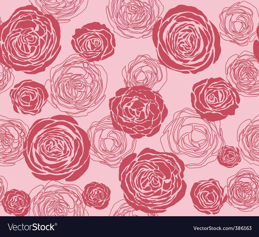 Rose pattern vector