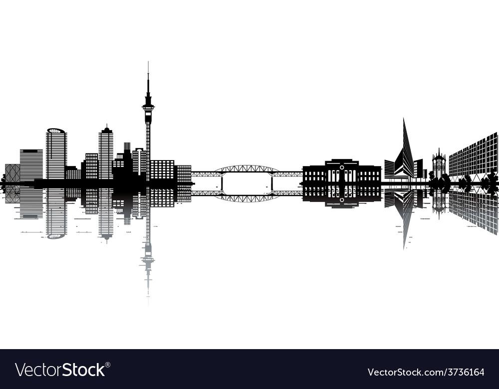 Auckland skyline vector