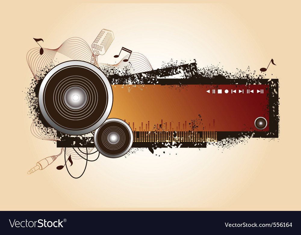 Audio elements vector