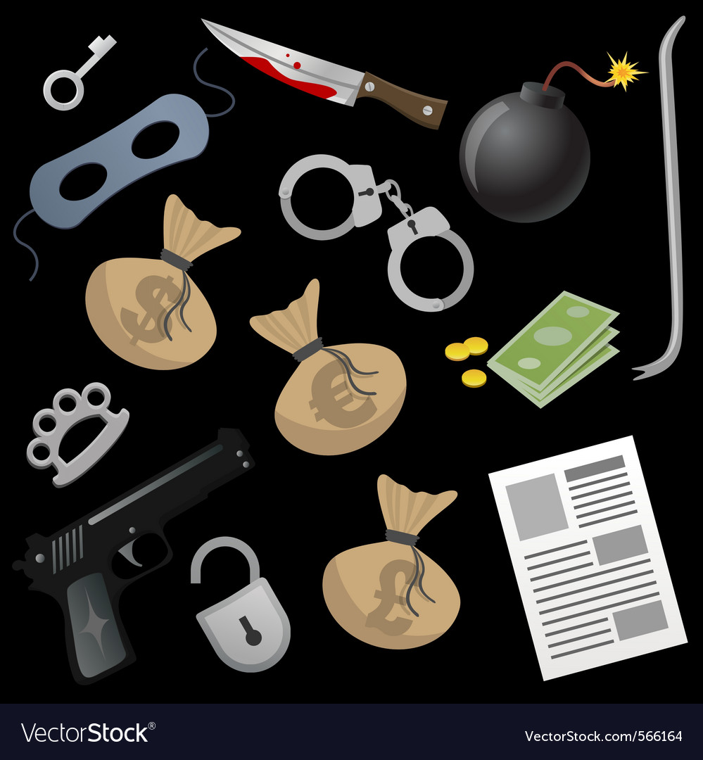 Gangster tools vector