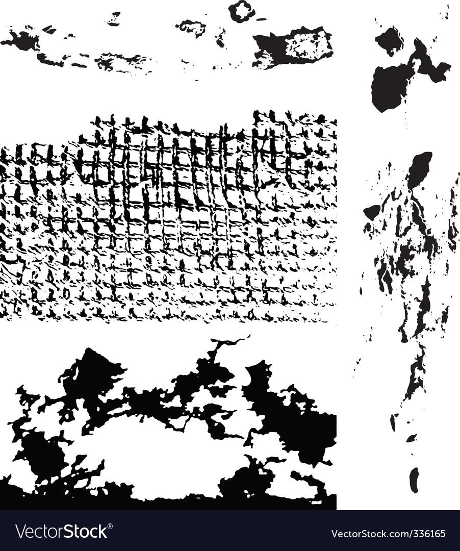 Grunge textures vector