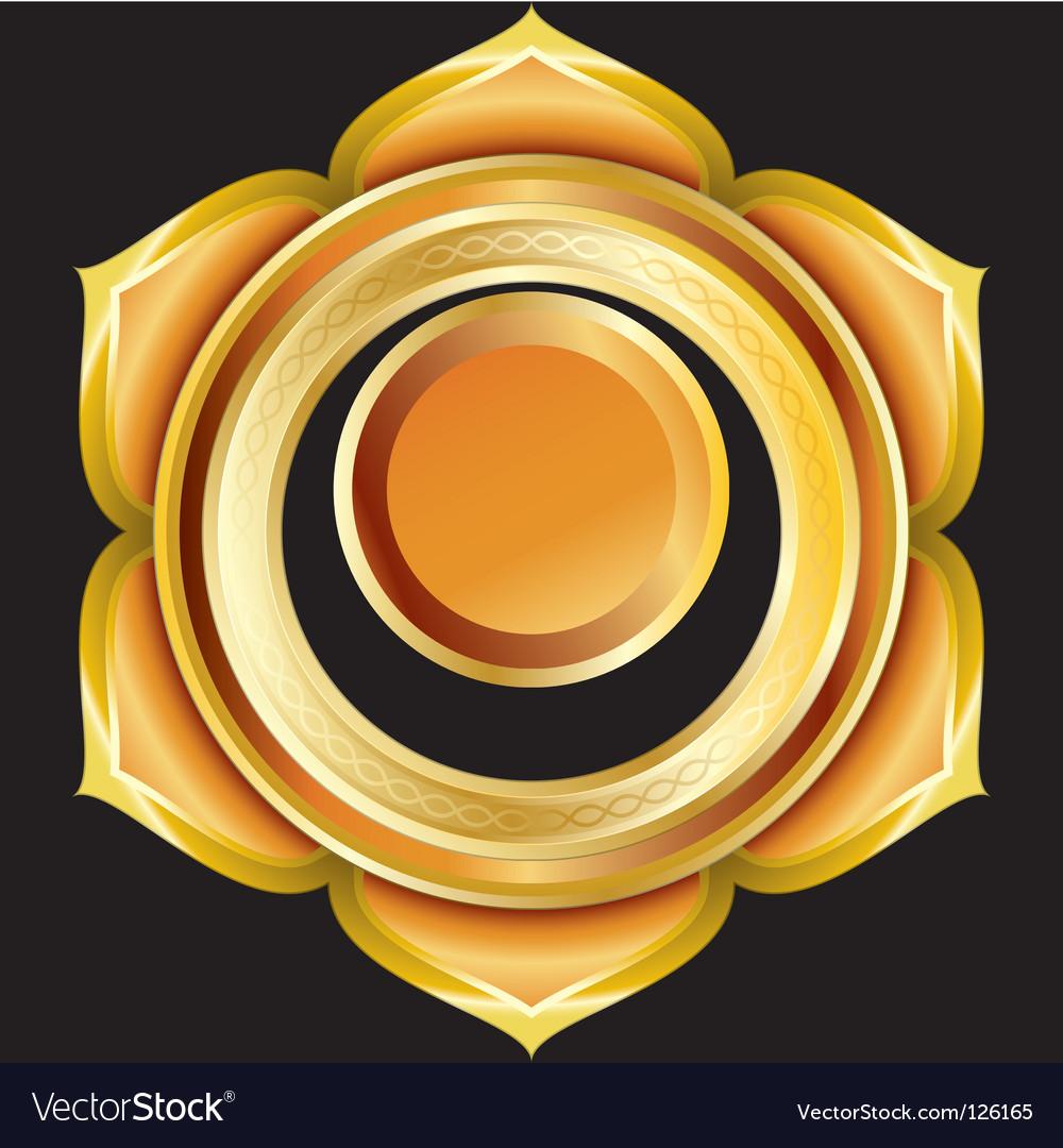 Hindu chakra svadhisthana medallion vector