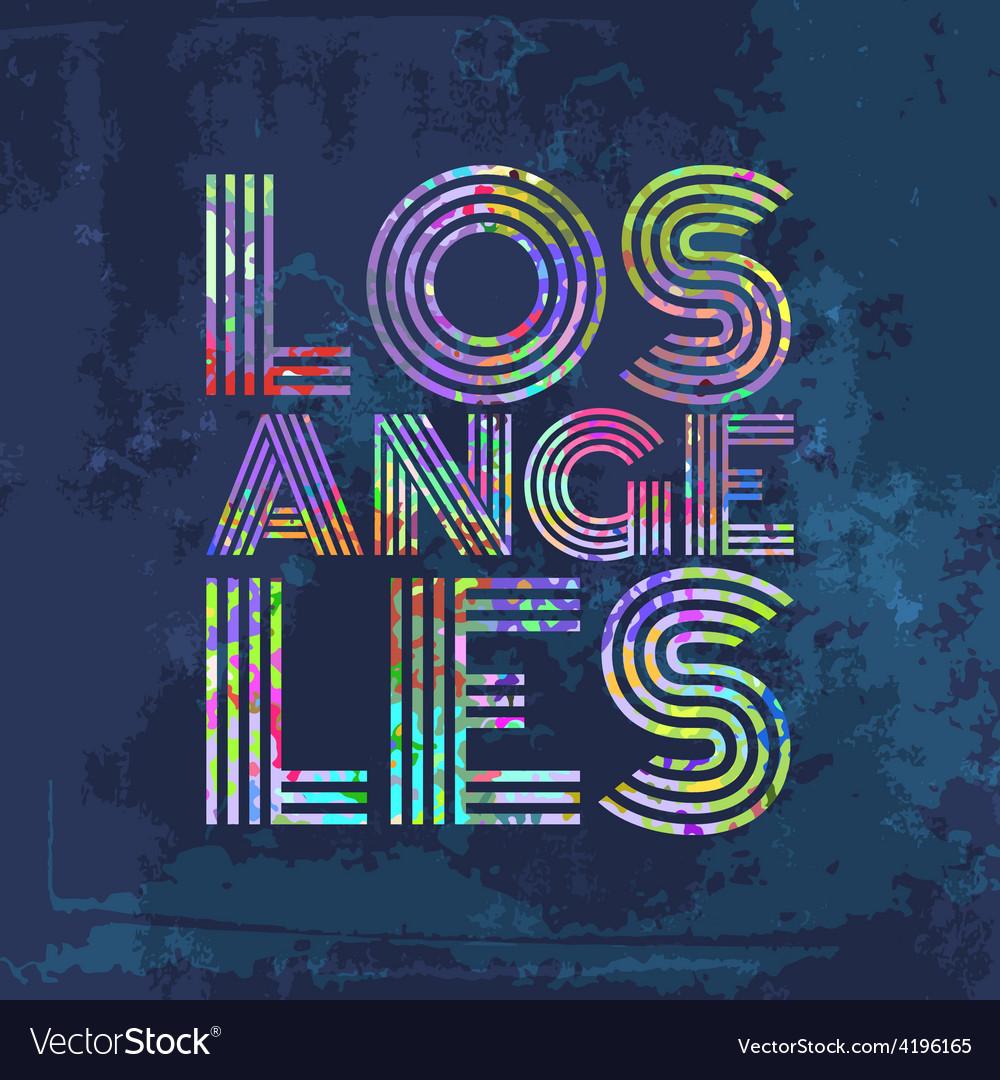 Los angeles - artwork for wear in custom colors vector