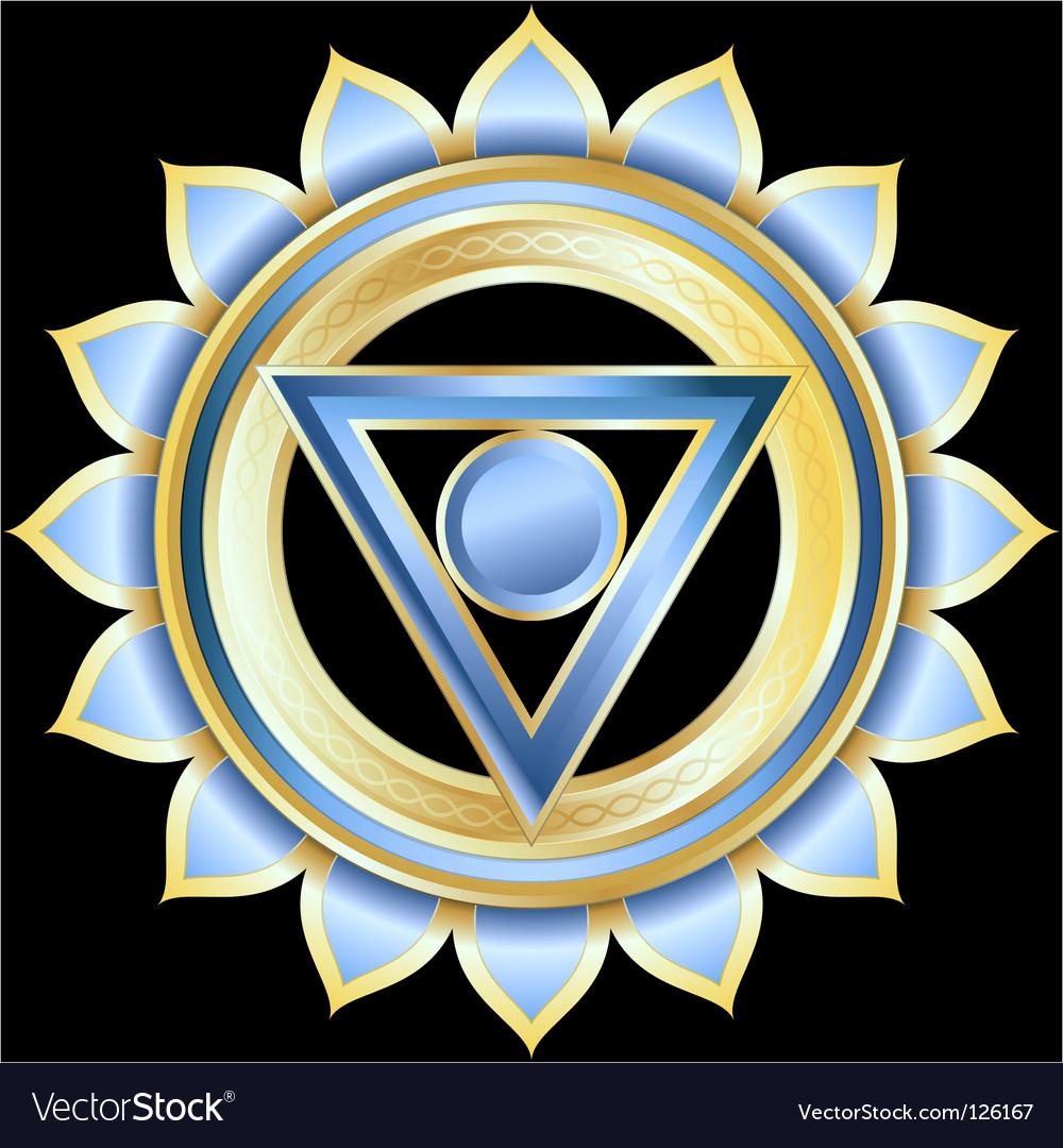 Hindu chakra vishuddha medallion vector