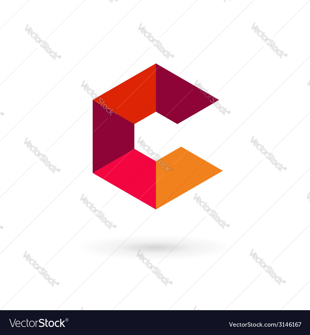 Letter c mosaic logo icon design template elements vector