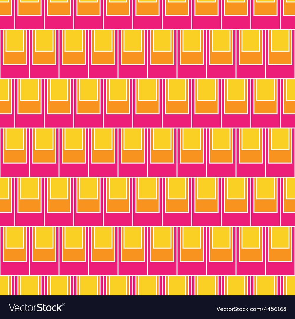 Seamless rectangular tile pattern vector