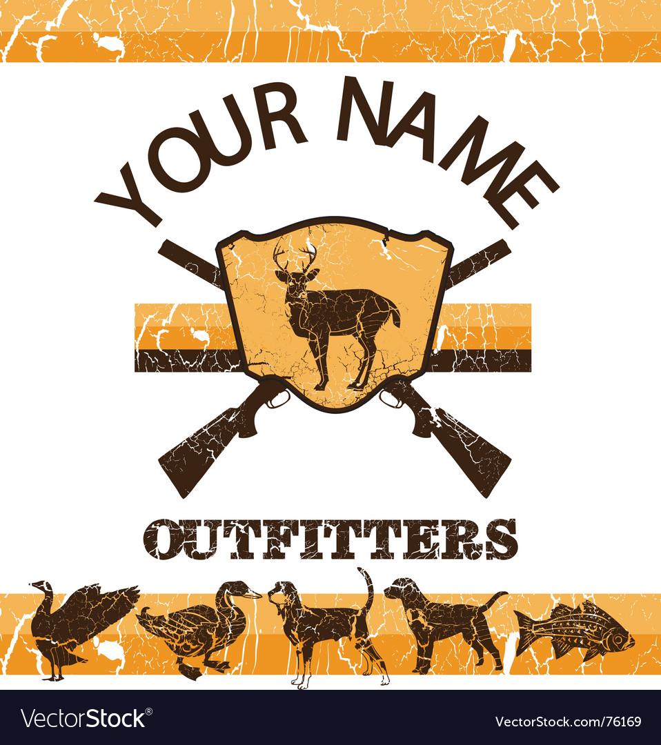 Vintage hunting sign vector