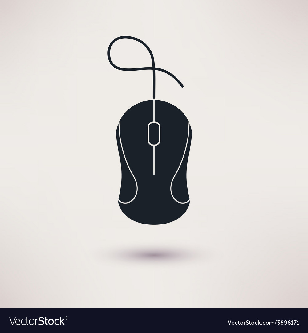 Computer mouse icon in a flat style vector
