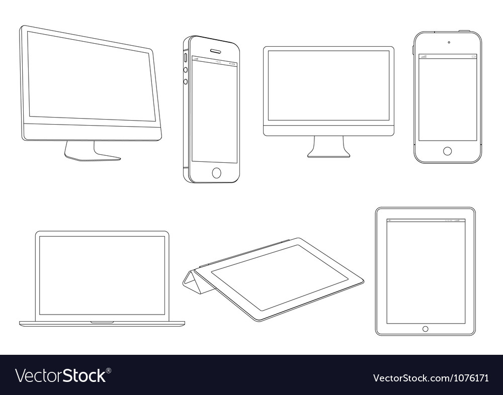Digital devices vector