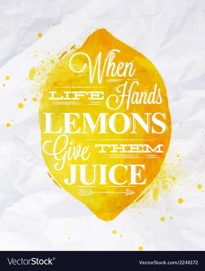 Poster fruit lemon vector