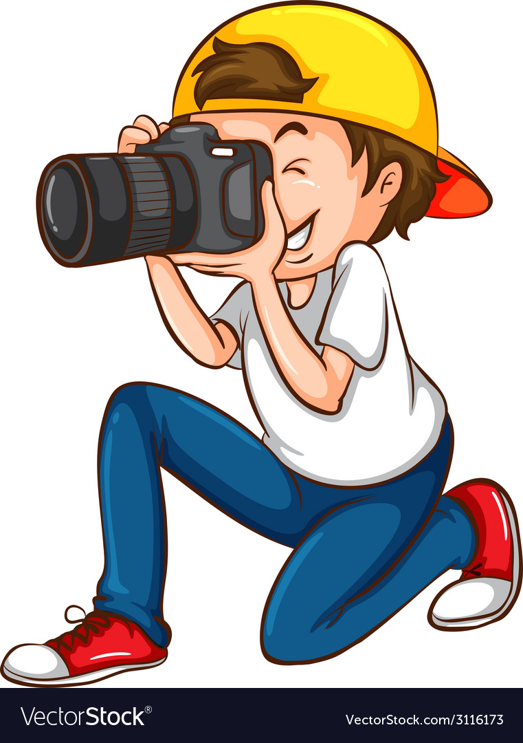 A simple sketch of a photographer vector