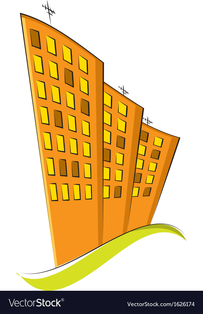Group of residential buildings vector