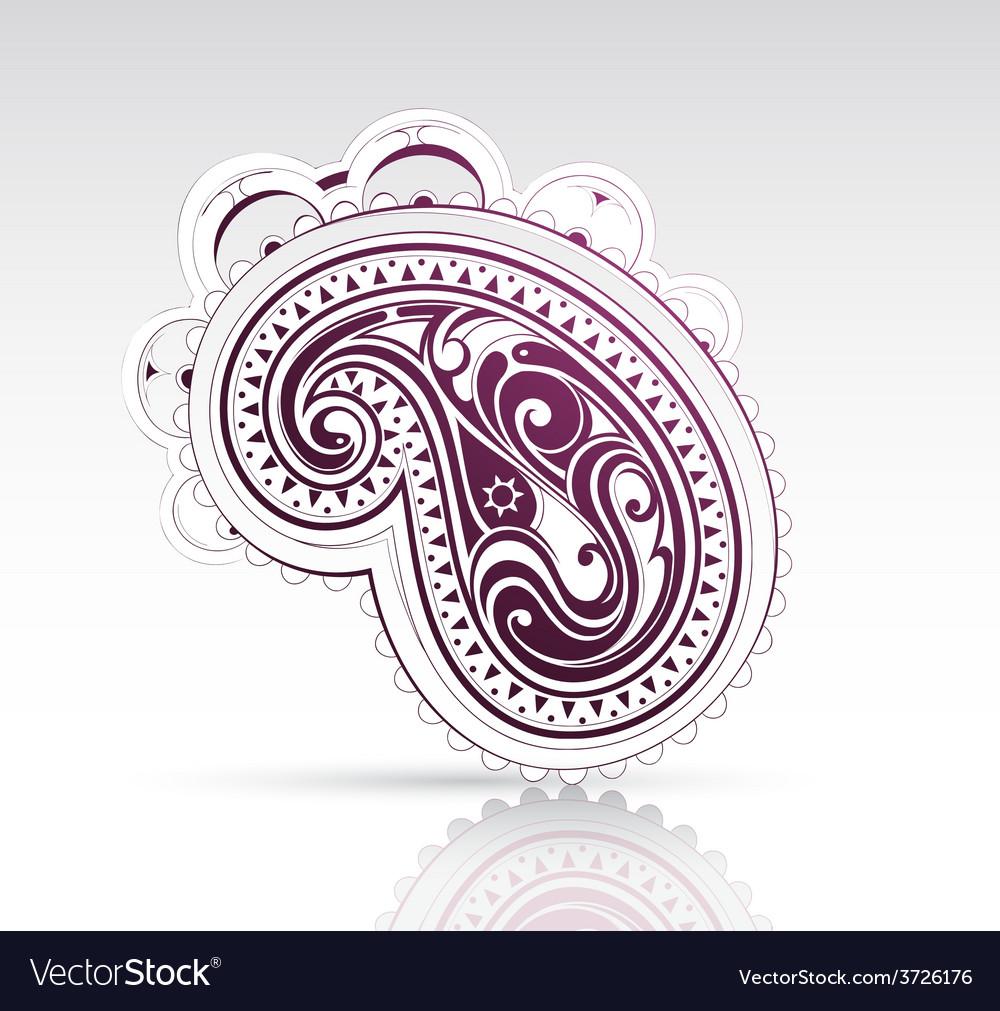 Ethnic ornament as design element vector