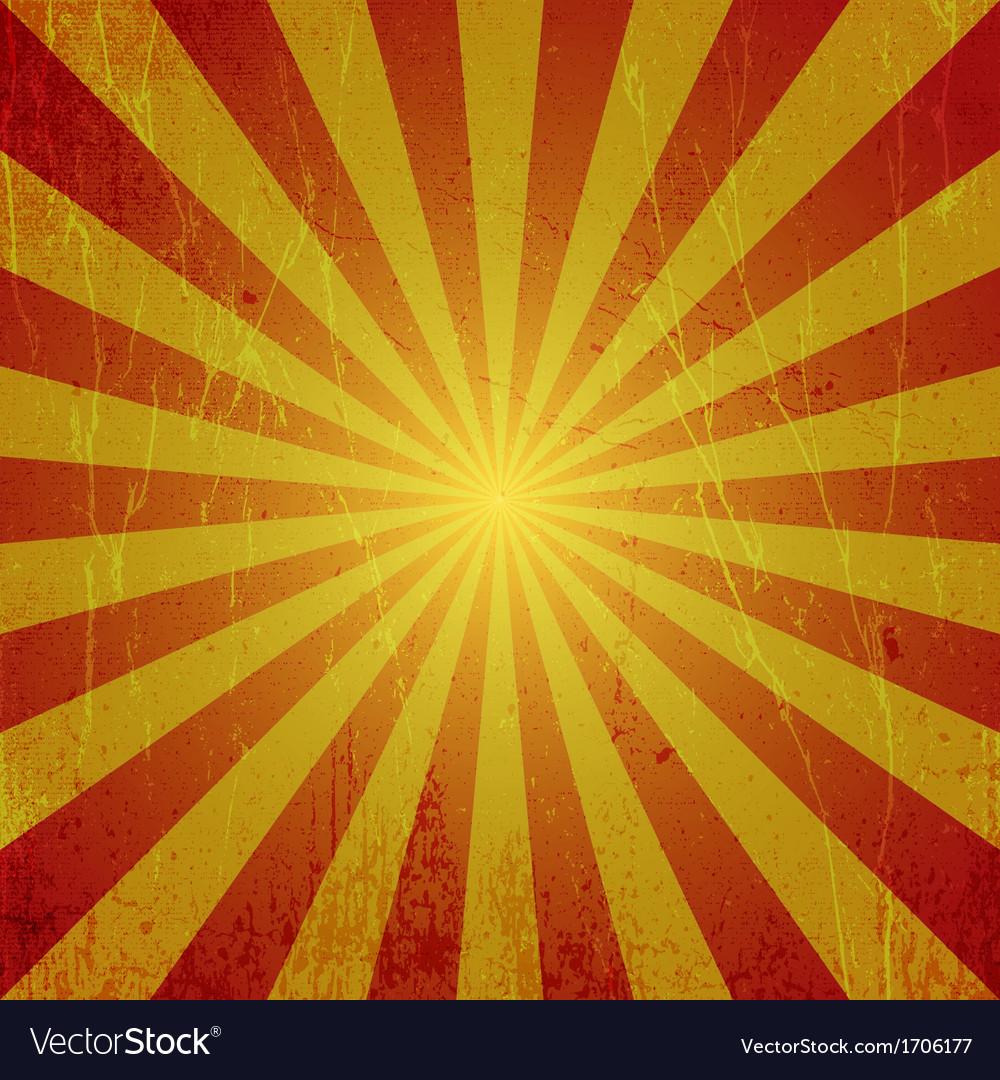 Grunge sun rays vector