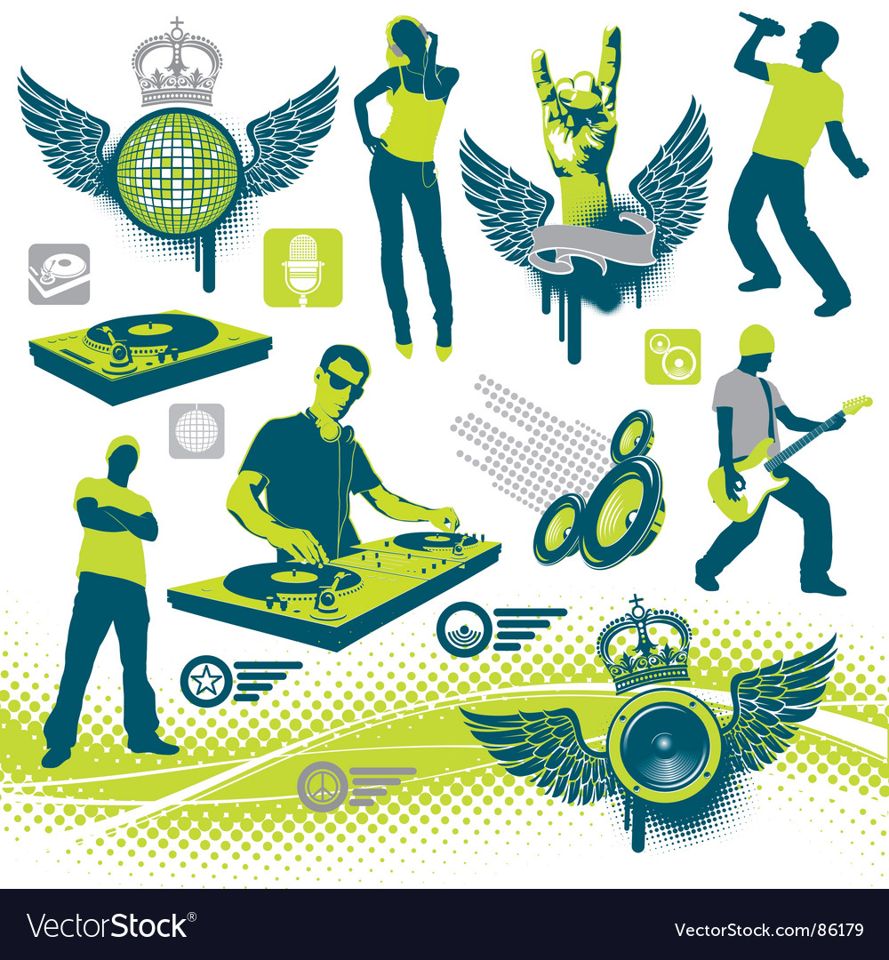 Musical collection vector
