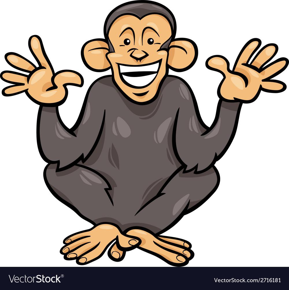 Chimpanzee ape animal cartoon vector