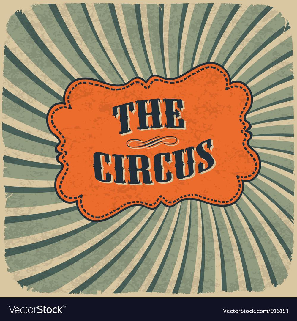 Circus retro colors card vector