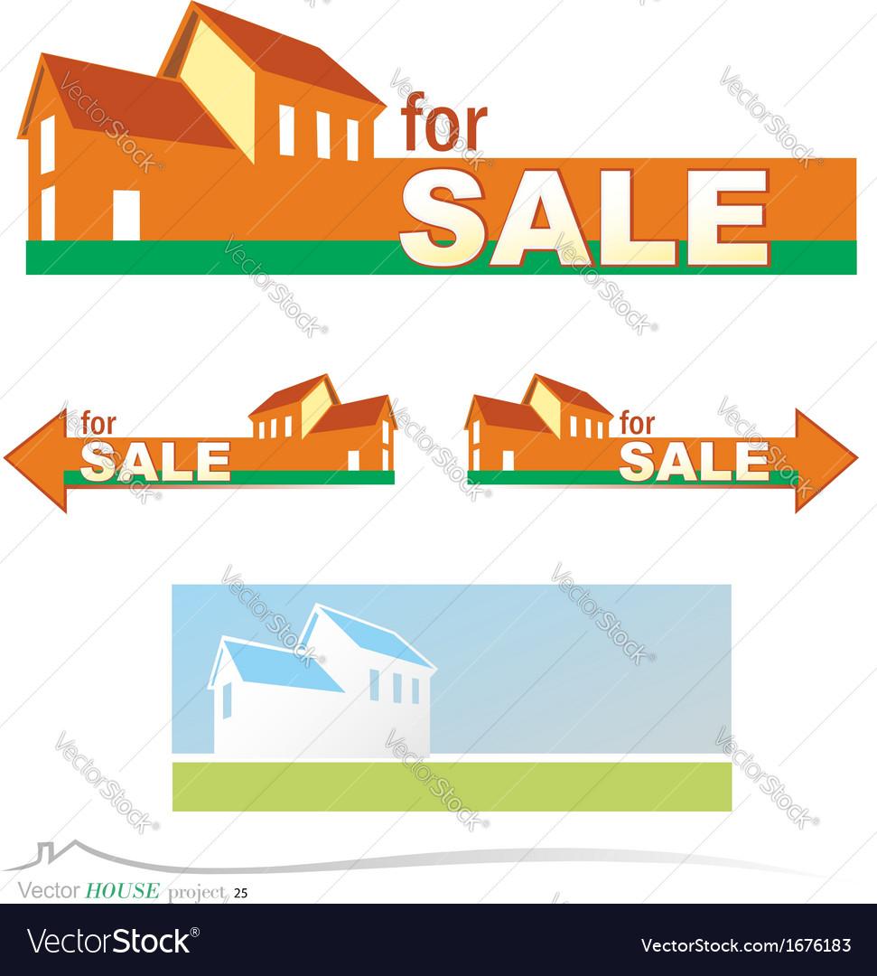 Banner real estate vector
