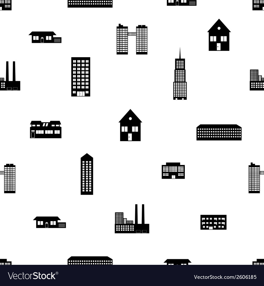 Buildings and houses pattern eps10 vector