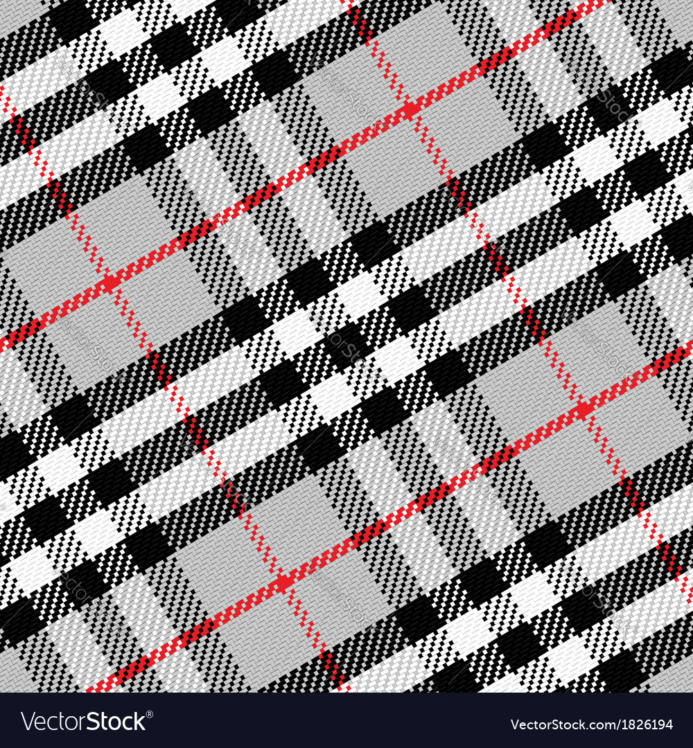 Pattern scottish tartan 1 vector