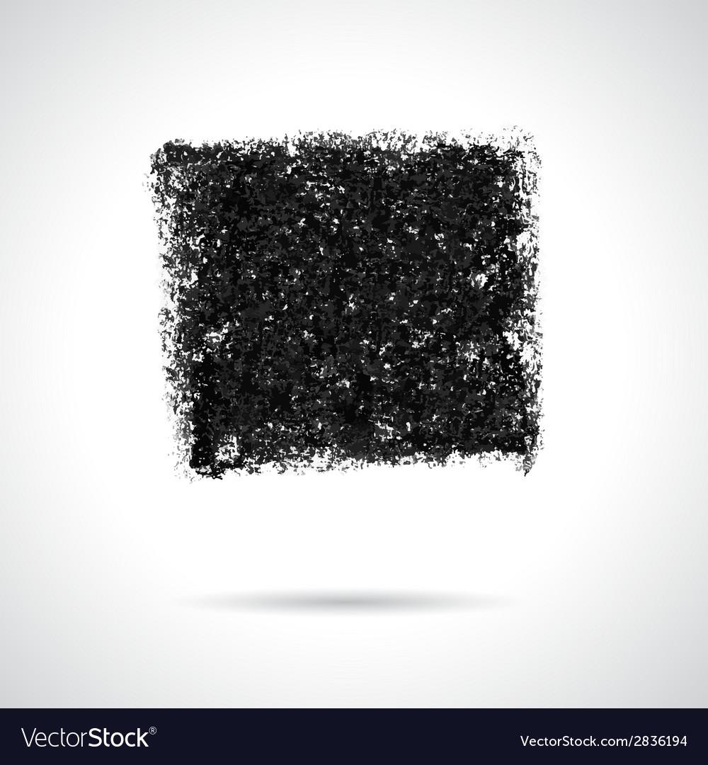 Square black oil pastel banner vector