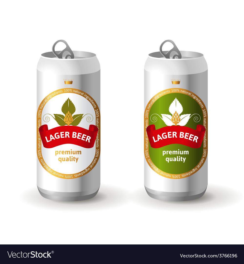 Aluminium beer cans vector