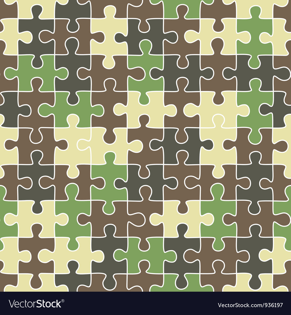 Puzzle camouflage seamless pattern vector