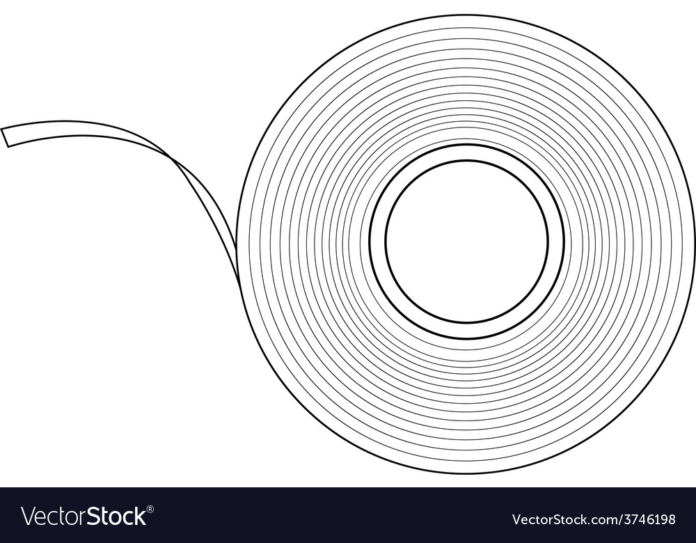 Insulation tape contour vector