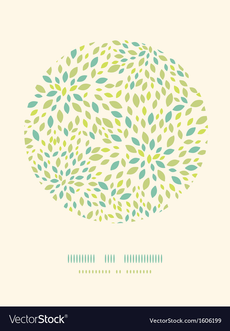 Leaf texture circle decor pattern background vector