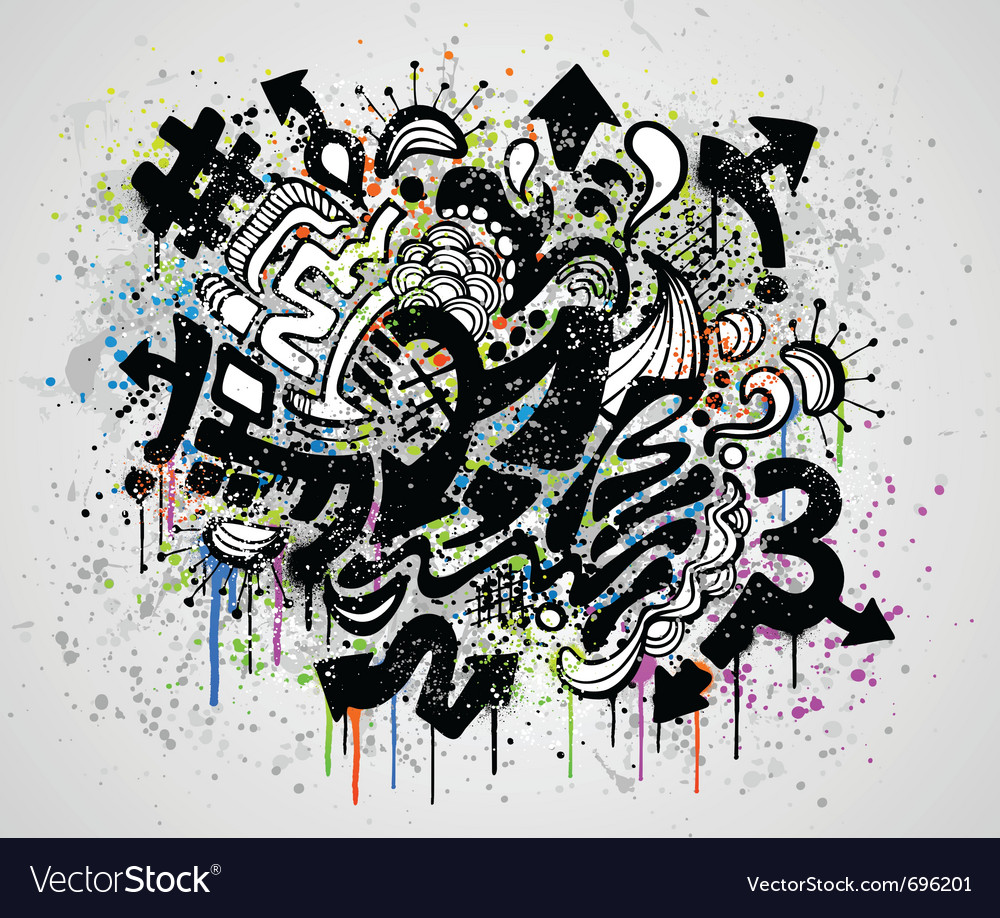 Grunge graffiti design vector