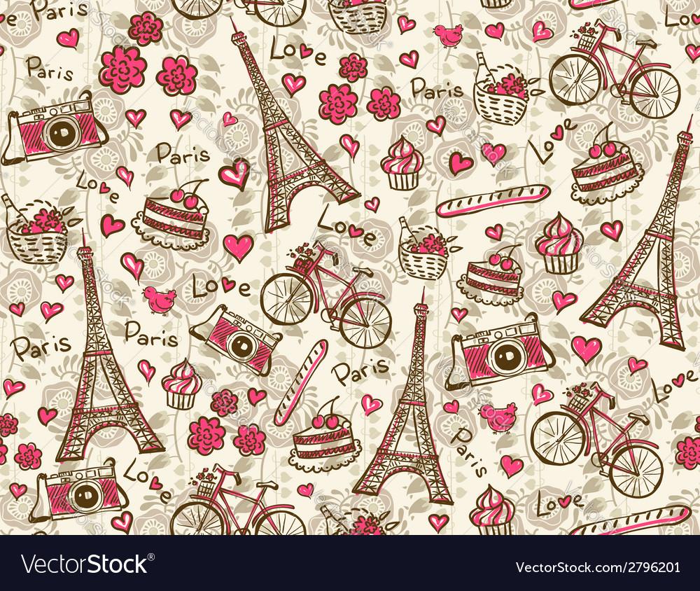 Paris vintage background vector