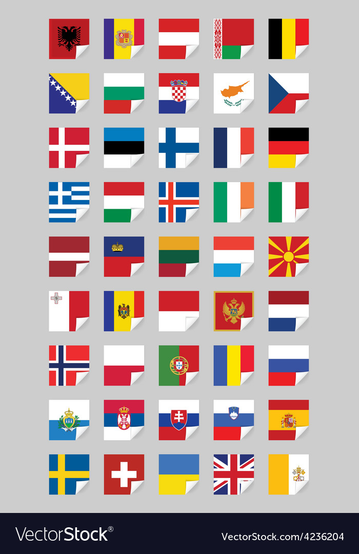 Flags of european states vector
