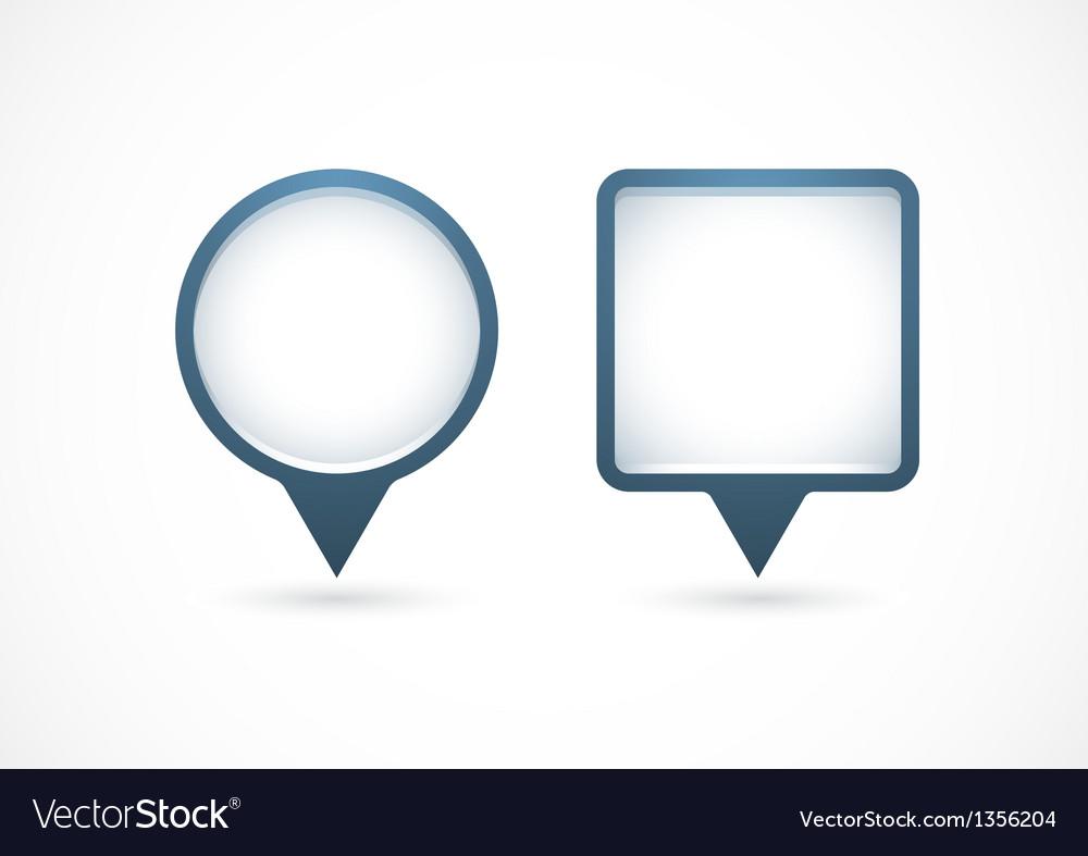 Pointer white vector