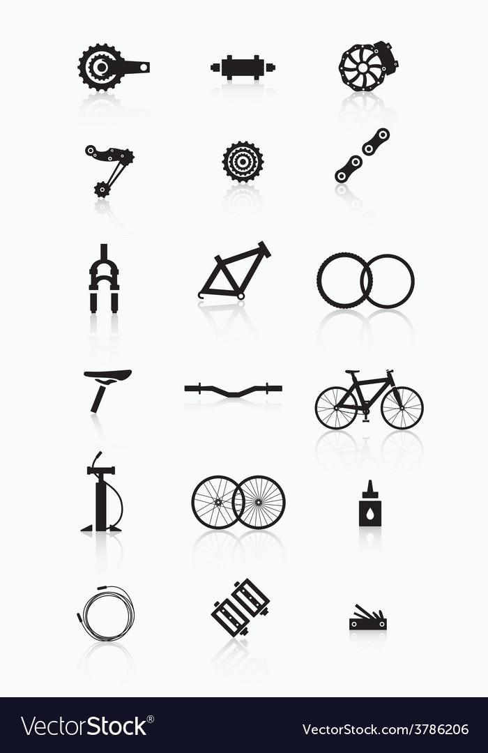 Bike accessories vector