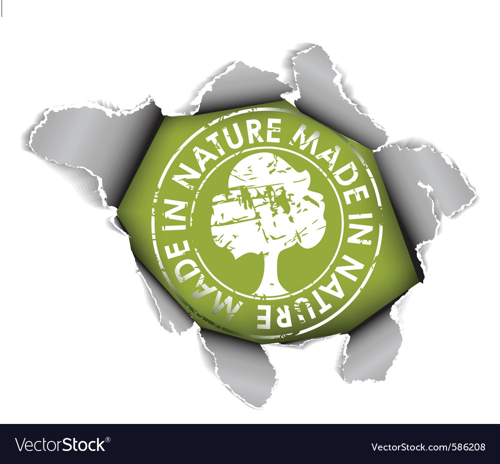 Ecological organic item vector