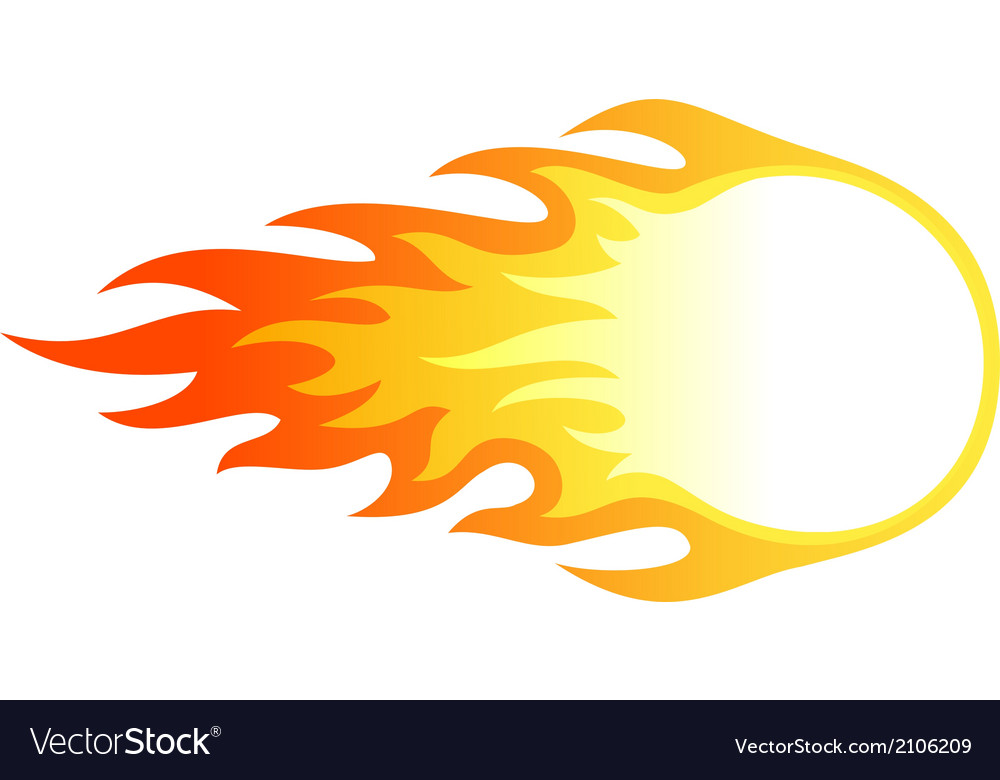 Fire ball vector