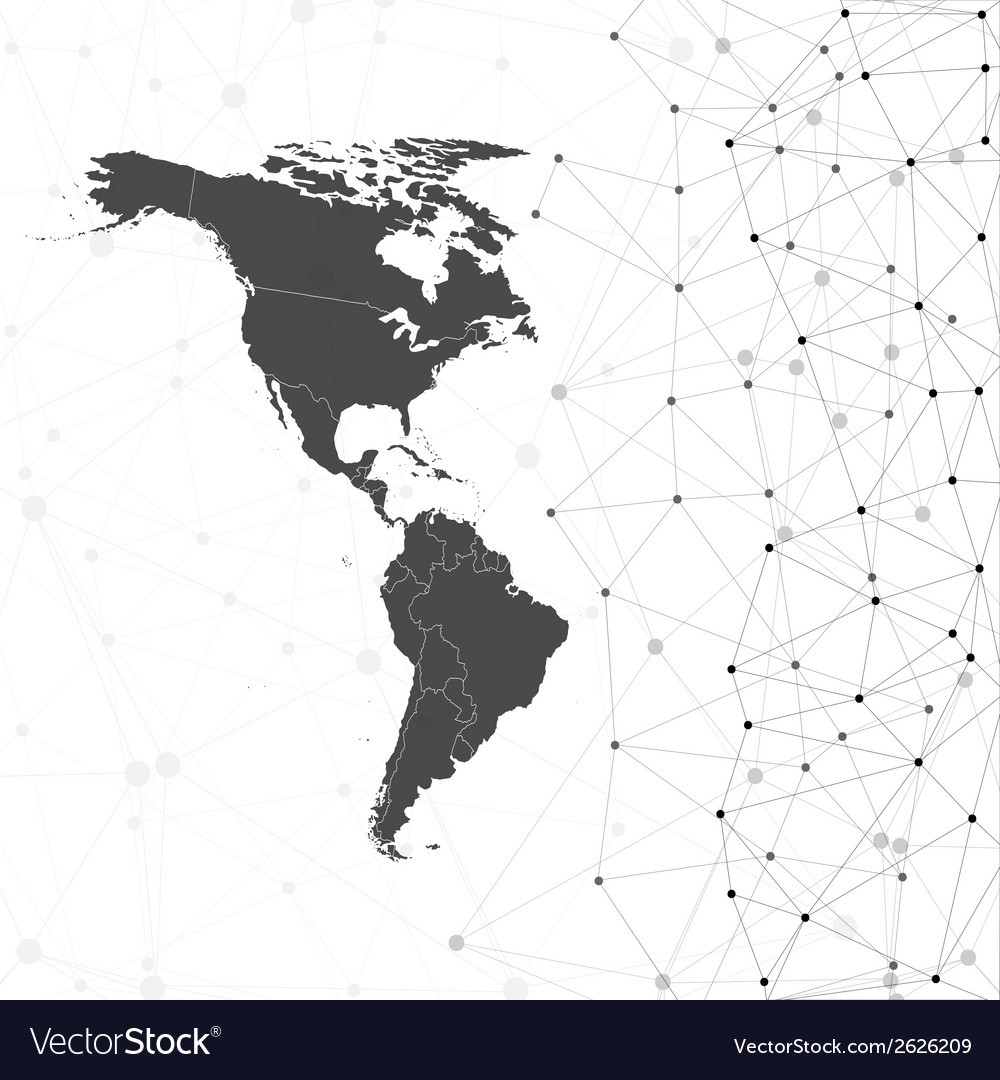 North and south america map  for communication vector