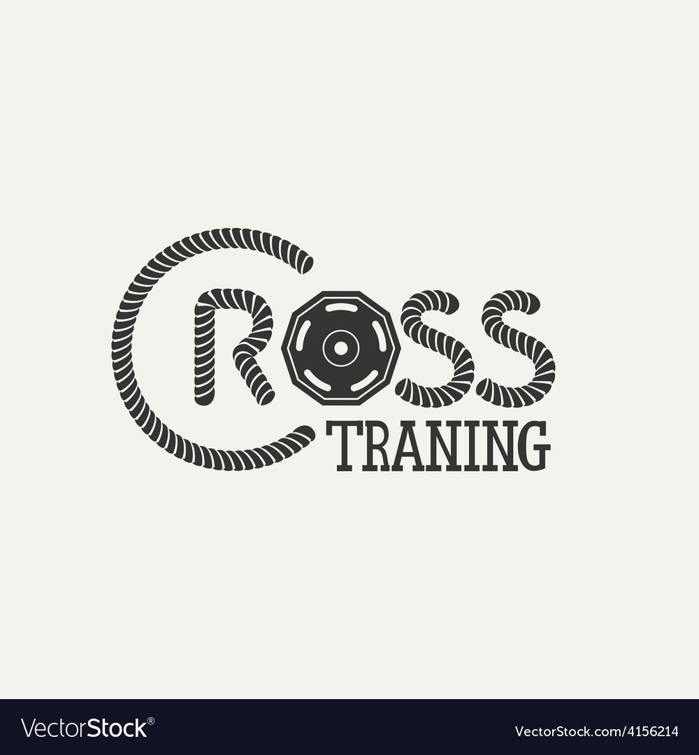 Cross training logo vector