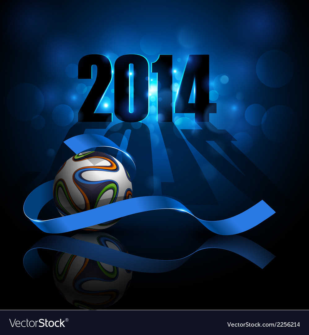 Sporty blue background with a soccer ball vector