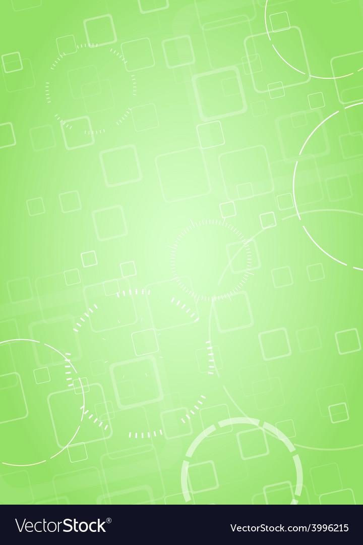 Abstract hi-tech green background vector