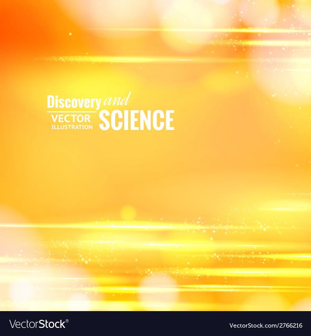 Orange science background vector