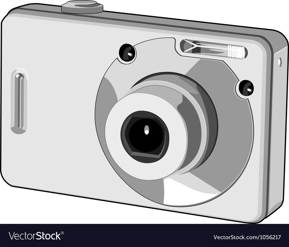 Digital camera retro vector