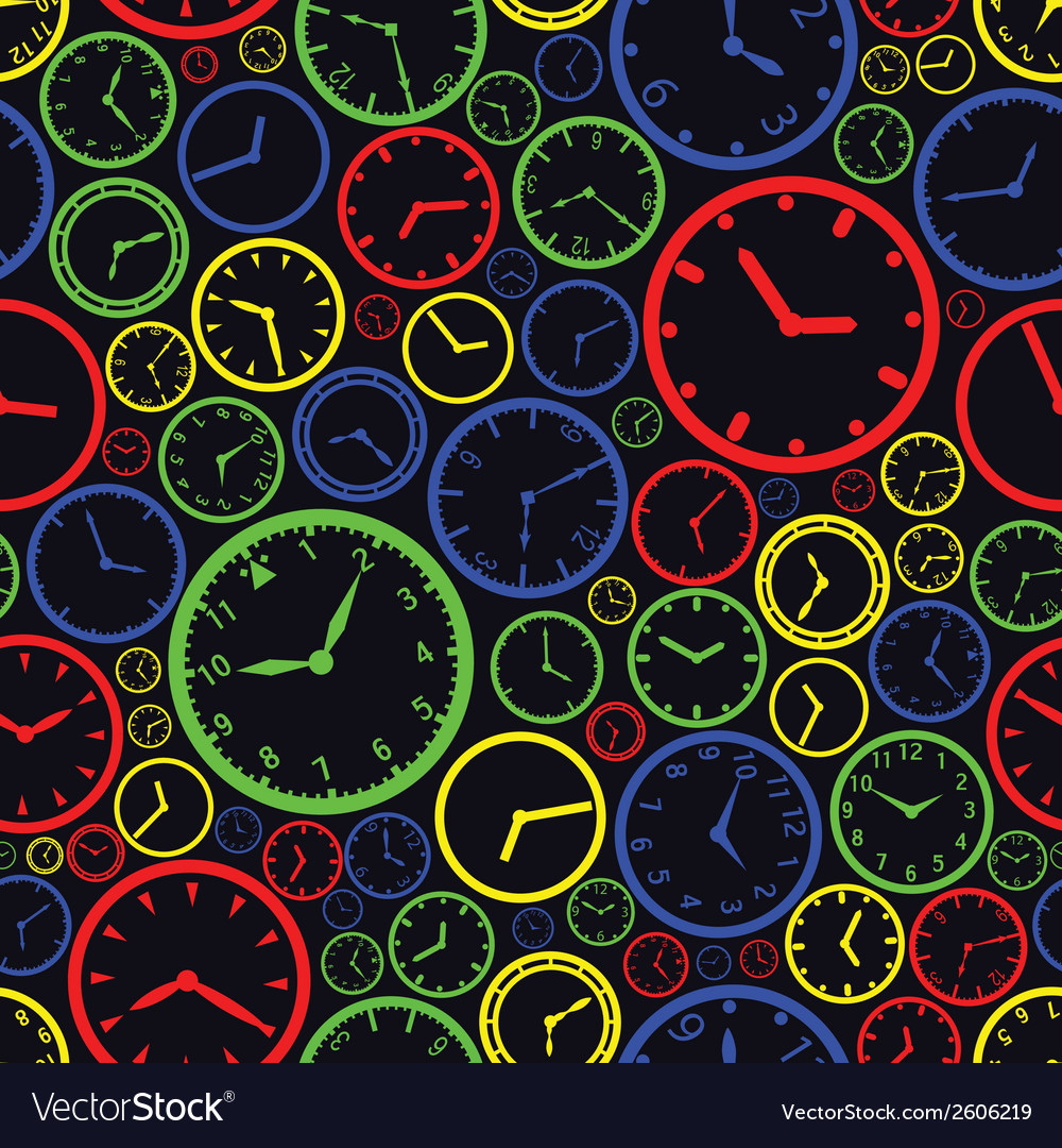 Watch dial color pattern eps10 vector