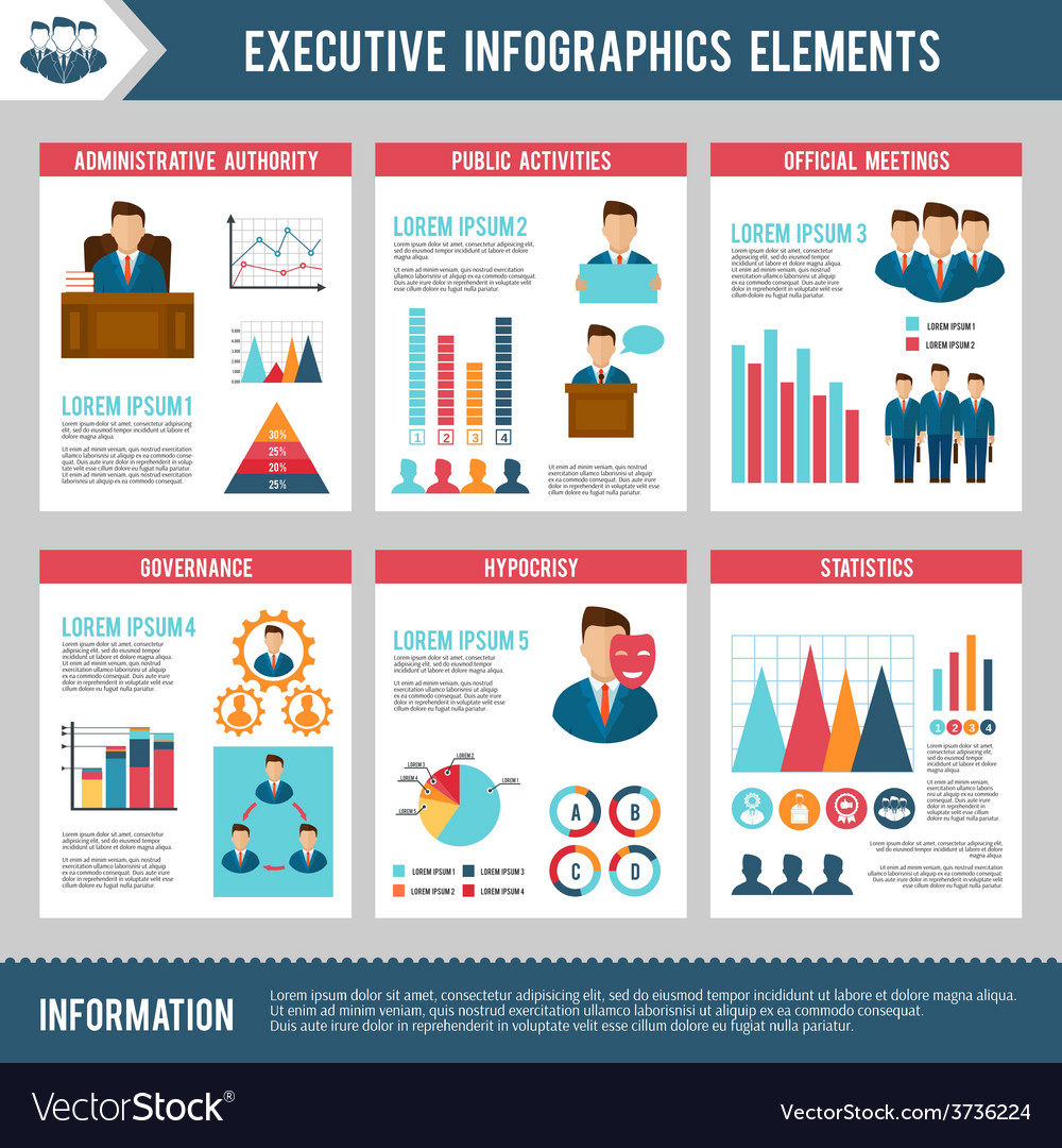 Executive infographics set vector