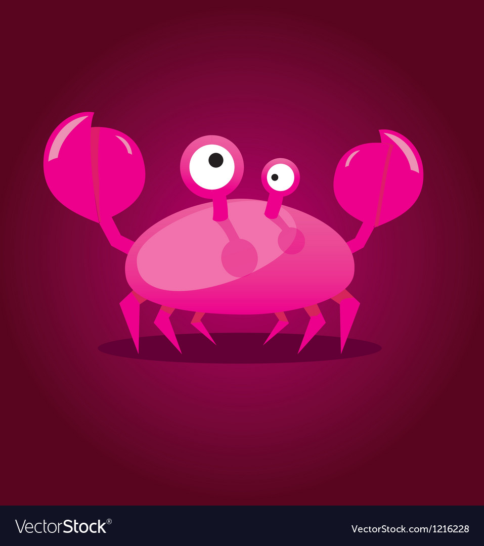 Funny cartoon crab vector