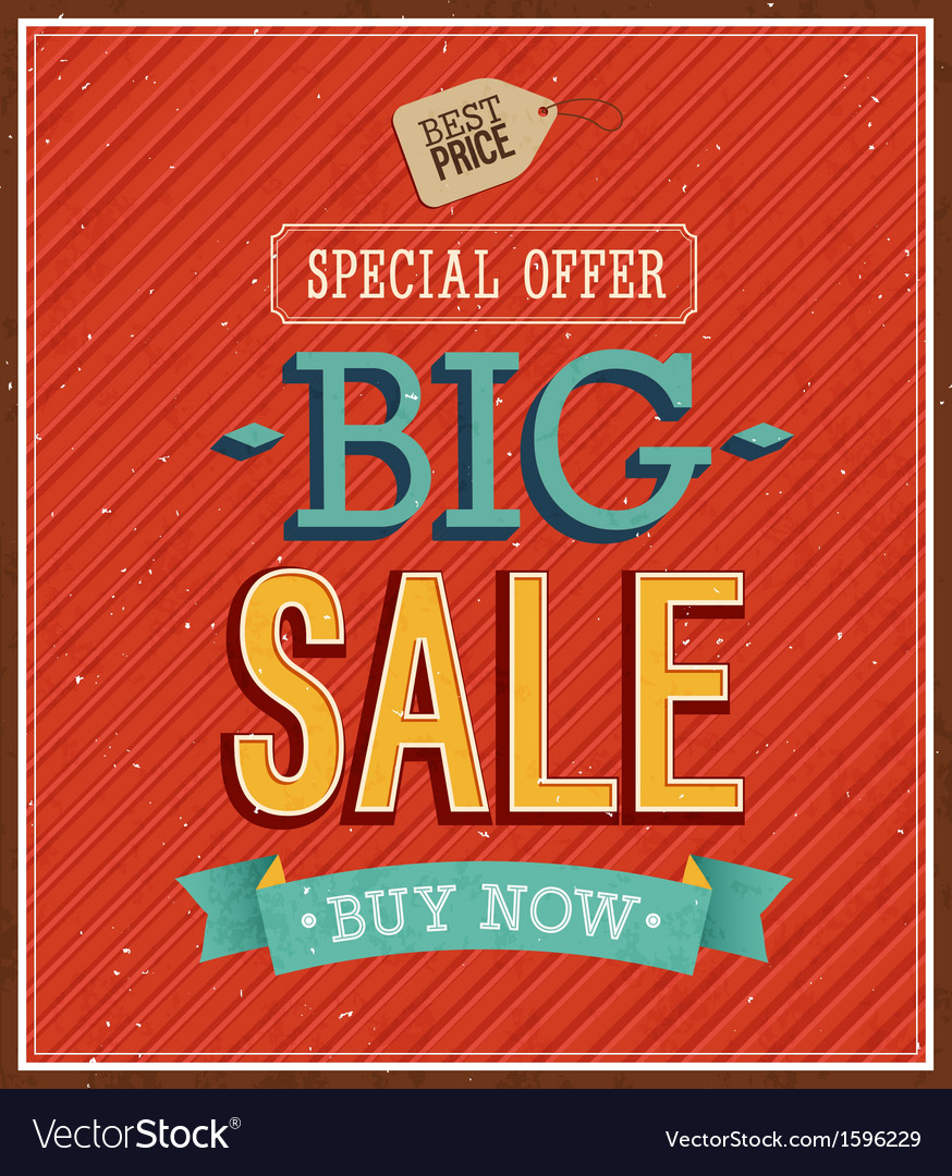Big sale typographic design vector