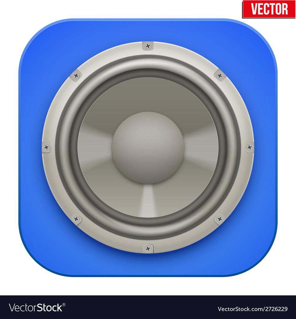 Realistic sound load speaker icon vector