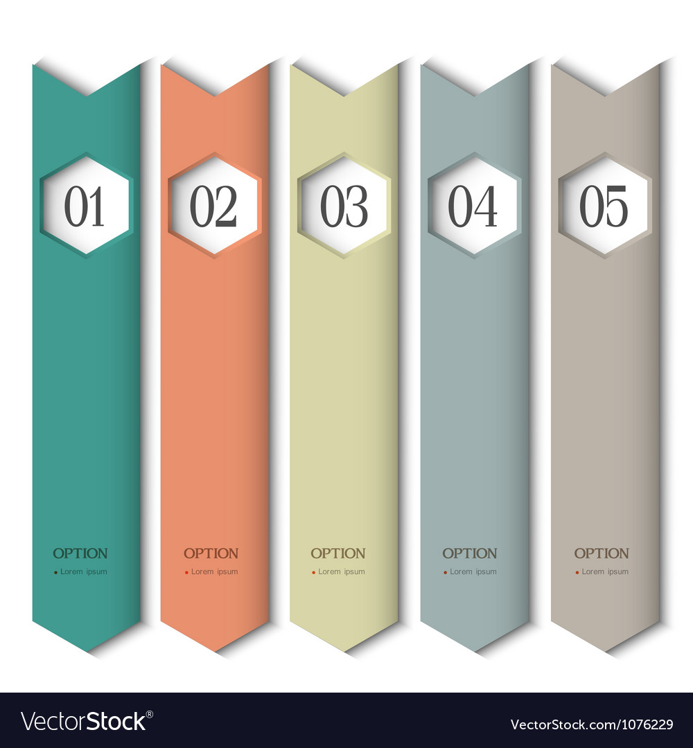 Vertical design template with stylized arrows vector