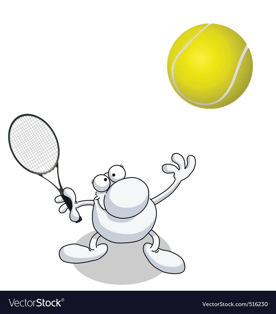 Man tennis vector