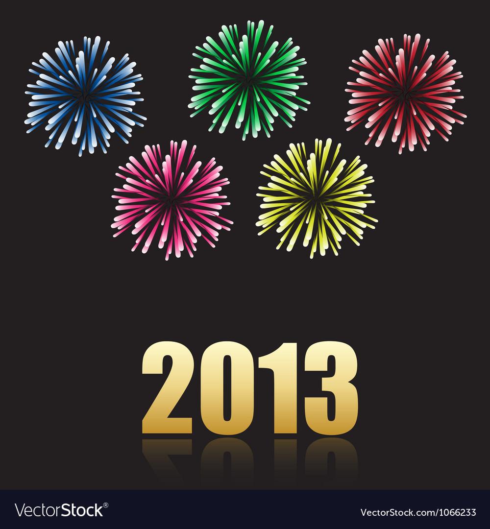 2013 new year celebration vector
